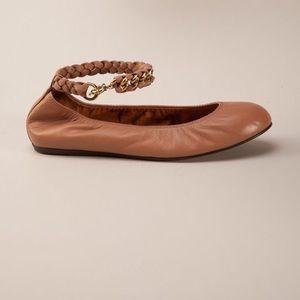 Lanvin ballerina chain strap flat